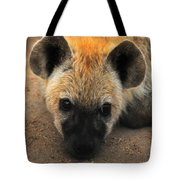 Baby Spotted Hyena Tote Bag