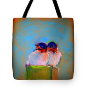 Baby Swallows Tote Bag by Sue Jacobi