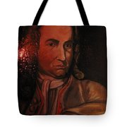 Bach Portrait After Heavy Varnish Tote Bag