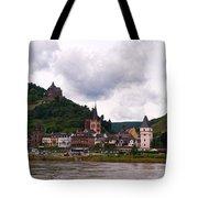 Bacharach Am Rhein And Burg Stahleck Tote Bag