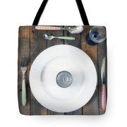 Bachelor's Dinner Tote Bag by Joana Kruse