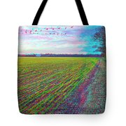 Back Forty - Use Red/cyan Filtered 3d Glasses Tote Bag