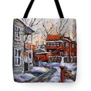 Back Lanes 02 Montreal By Prankearts Tote Bag