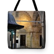 Back Lit Interior Of Mosque  Tote Bag
