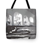 Back North Entrance #1 Of San Xavier Mission Tucson Arizona 1979-2013  Tote Bag