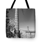 Back Of Amana Woolen Mill Amana Ia Bw Tote Bag