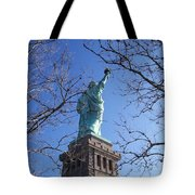Back Of Liberty Tote Bag