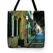 Back Street In Charleston Tote Bag