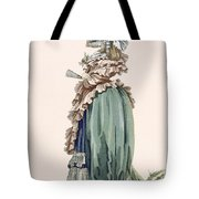 Back View Of Ladys Dress, Engraved Tote Bag