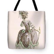 Back View Of Ladys Grey Promenade Tote Bag