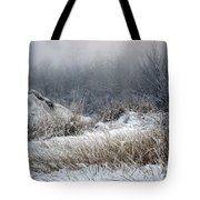 Back Woods Winter Tote Bag