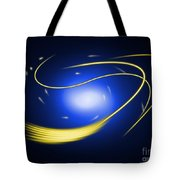 Background Blue Glow Lines Tote Bag