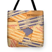 Background Of Empty Coin Rolls Tote Bag