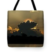 Backlit Clouds During Sunset Over Lago Tote Bag