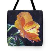 Backlit Hibiscus Tote Bag