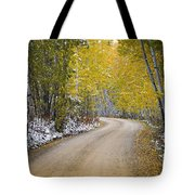 Backroads Of Autumn Tote Bag