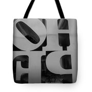 Backside Of Hope In Black And White Tote Bag