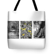 Backwoods Escape Triptych Tote Bag