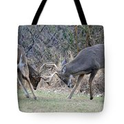 Backyard Brawl Tote Bag