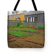 Backyard Garden In Louisbourg Living History Museum-1744-ns Tote Bag