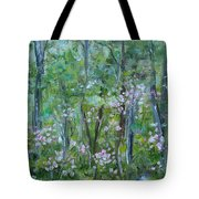 Backyard Mountain Laurel Tote Bag