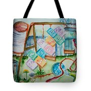 Backyard Play Simple Times Tote Bag
