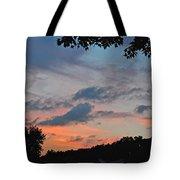 Backyard Sunset Tote Bag