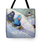 Backyard Winter Olympics Tote Bag