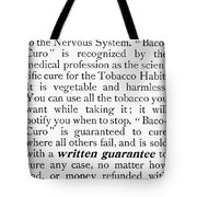 Baco-curo Ad, 1893 Tote Bag