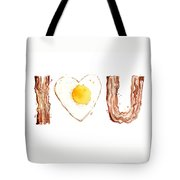 Bacon And Egg Love Tote Bag