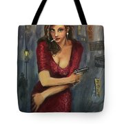 Bad Girl Tote Bag by Tom Shropshire