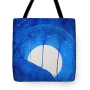 Bad Moon Rising Original Painting Tote Bag