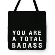 Badass Birthday Card Tote Bag