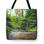 Badger Creek Above The Weir Tote Bag