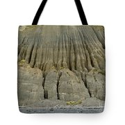 Badland Erosion Of Soft Conglomerate Sediment Tote Bag