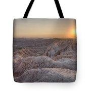 Badlands Overlook Sunset Tote Bag