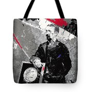 Badly Damaged Glass Plate Negative Studio Portrait Tucson Arizona C. 1885-2012 Tote Bag