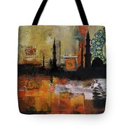 Badshahi Mosque Motives Tote Bag