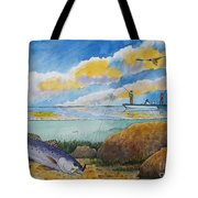 Fishing Baffin Bay Texas  Tote Bag