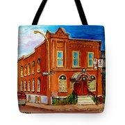 Bagg And Clark Street Synagogue Tote Bag