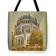 Baha'i  Temple In Wilmette Tote Bag