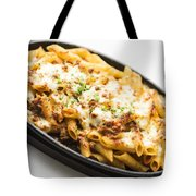 Baked Pasta With Meat And Cheese Tote Bag
