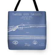 Baker Gun Barrel Patent Drawing From 1877- Light Blue Tote Bag