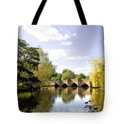 Bakewell Bridge - Over The River Wye Tote Bag