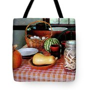 Baking A Squash And Pumpkin Pie Tote Bag by Susan Savad