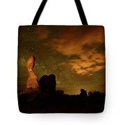 Balanced Rock And The Milky Way Tote Bag