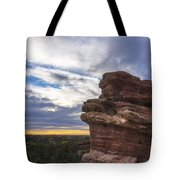Balanced Rock At Sunrise - Garden Of The Gods - Colorado Springs Tote Bag