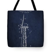 Balancing Of Wind Turbines Patent From 1992 - Navy Blue Tote Bag