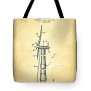 Balancing Of Wind Turbines Patent From 1992 - Vintage Tote Bag