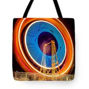 Balboa Fun Zone Ferris Wheel At Night Picture Tote Bag